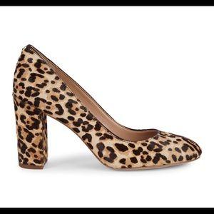 NWOT Sam Edelman cheetah print block heels